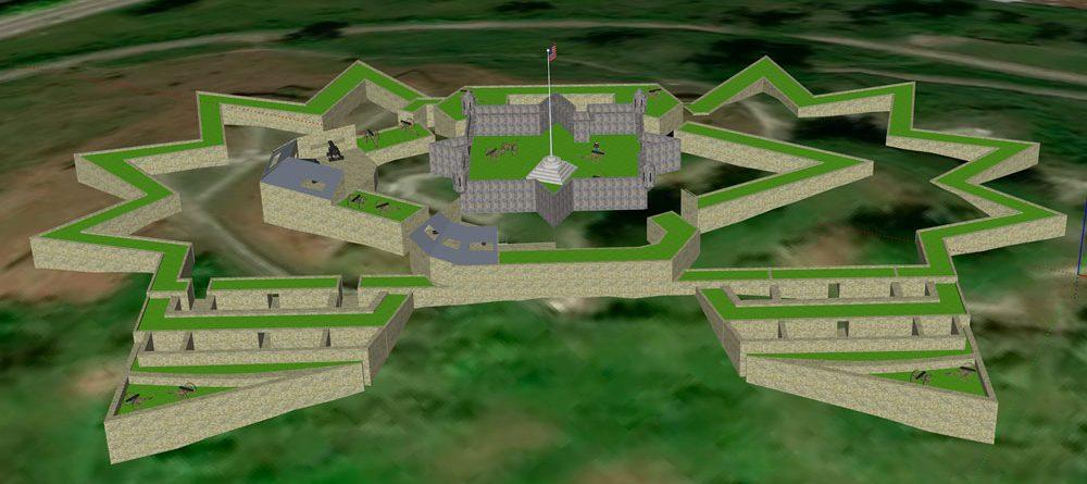 Fort Negley 3d